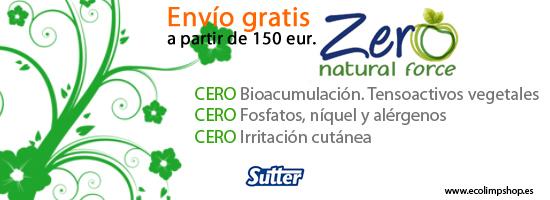 Nueva linea ZERO de Sutter. Productos de limpieza 100% naturales.